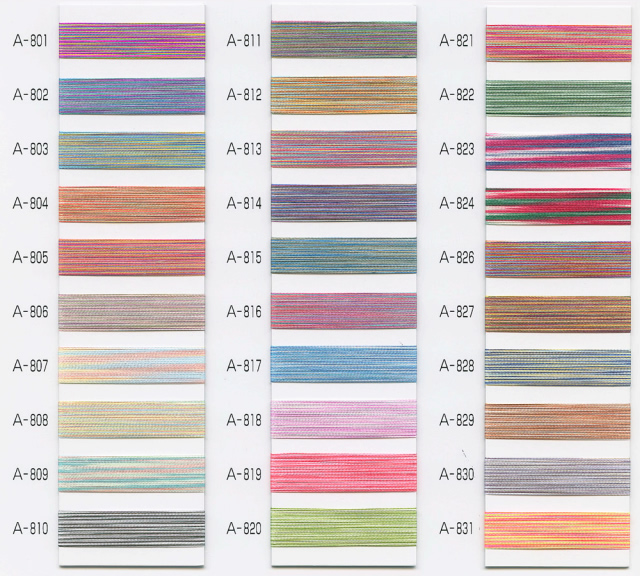複数の色合いを1本で楽しめる刺繍糸 シルメイトマルチ